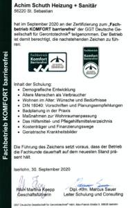 Fachbetrieb Komfort barrierefrei Achim Schuth